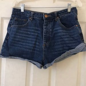 dark wash forever 21 jean shorts